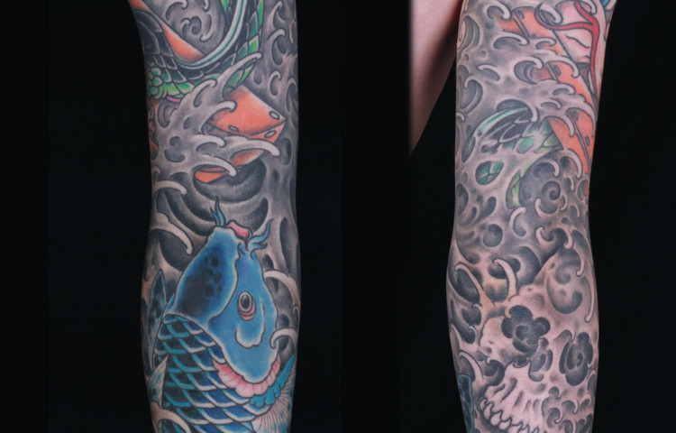 sam-yamini-dedication-tattoo-japanese-sleeve-koi-waves-skull-water
