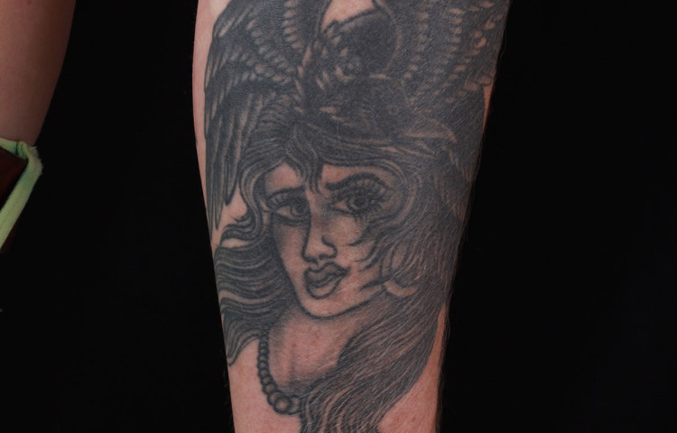 haley-mcmahon-dedication-tattoo-black-and-grey-girl-crow