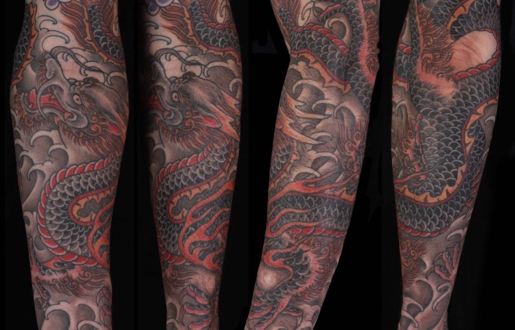 brian-thurow-dedication-tattoo-japanese-dragon-water-forearm-sleeve