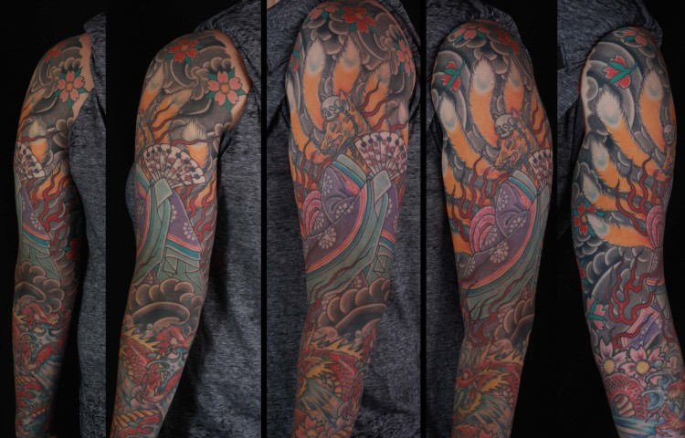 brian-thurow-dedication-tattoo-japanese-kitsune-fox-cherry-blossoms-sleeve-arm