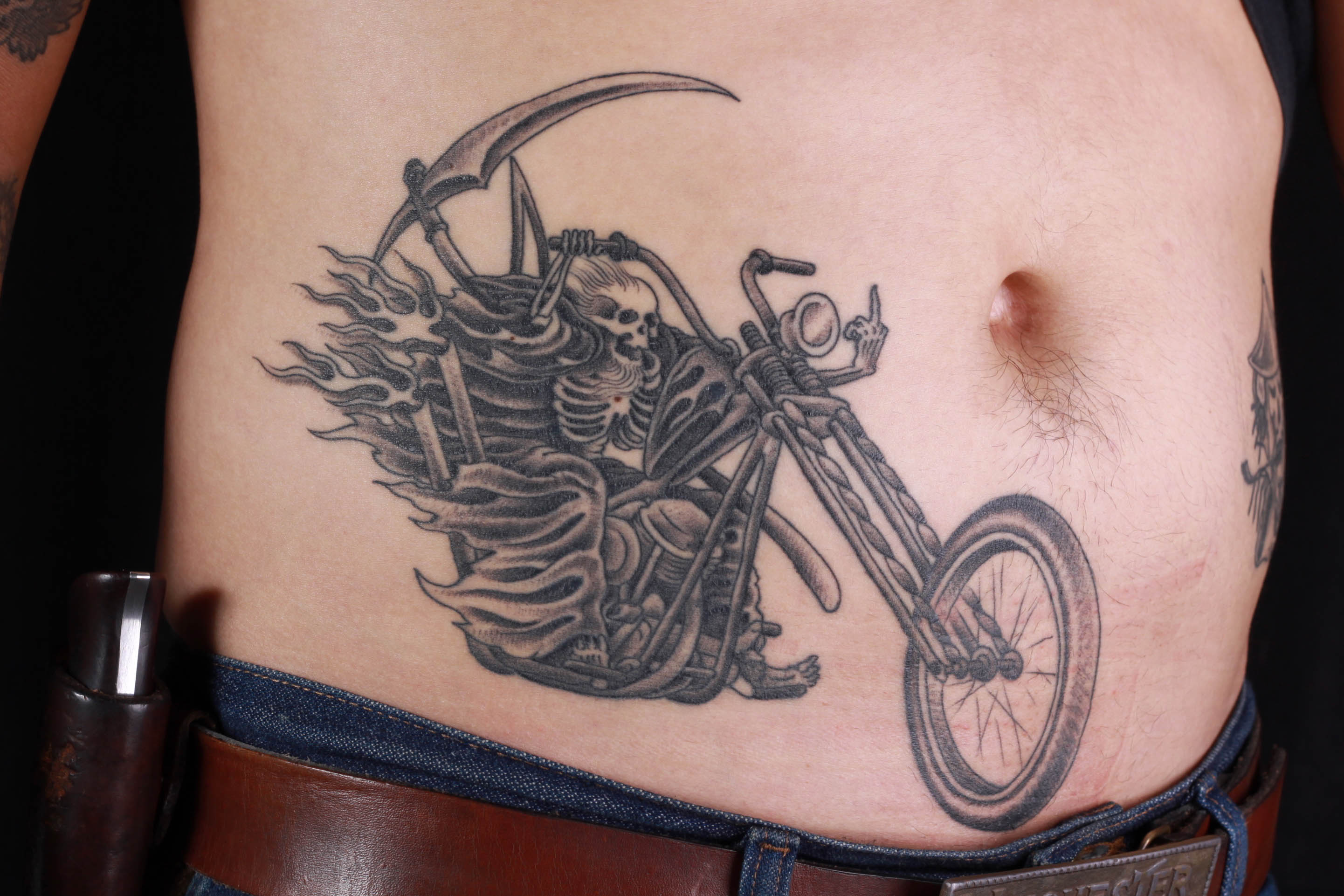 brian-thurow-dedication-tattoo-stomach-black-and-grey-motorcycle-reaper