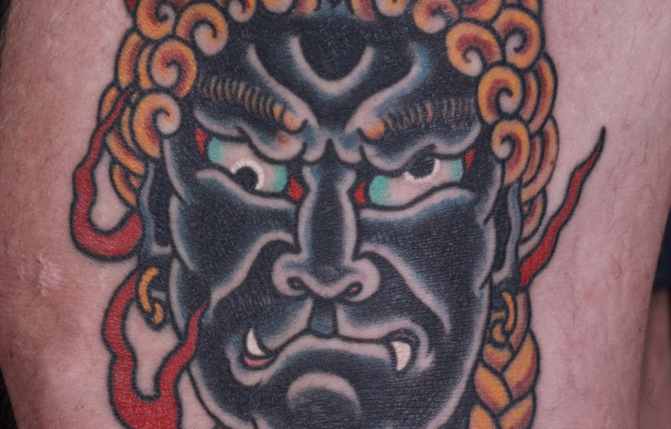 andy-canino-dedication-tattoo-japanese-fudo-myoo-flames-thigh