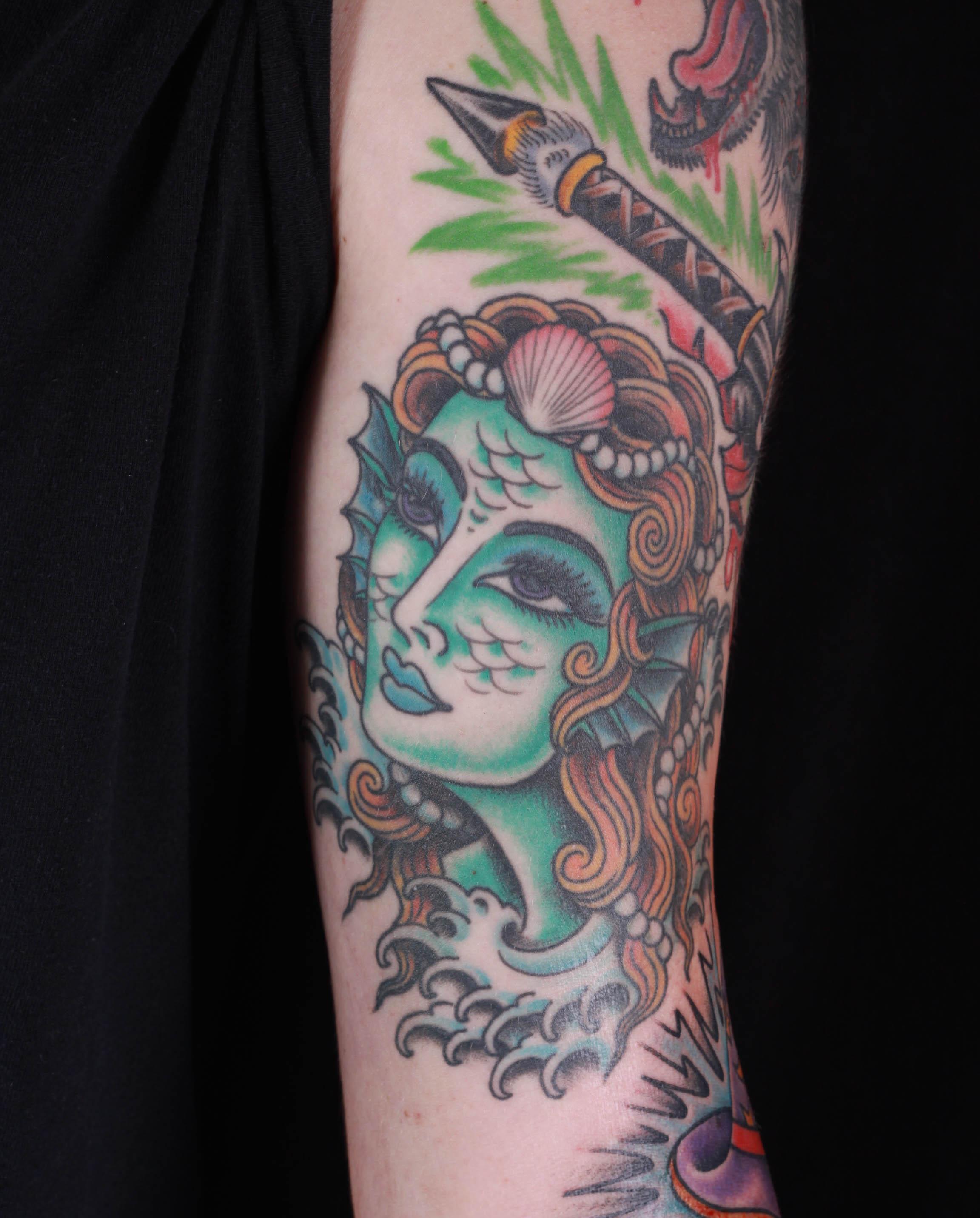 brian-thurow-dedication-tattoo-mermaid-girl-waves-forearm
