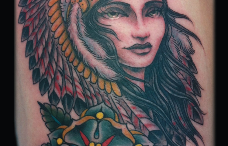 sam-yamini-dedication-tattoo-indian-girl-headdress-flower-thigh