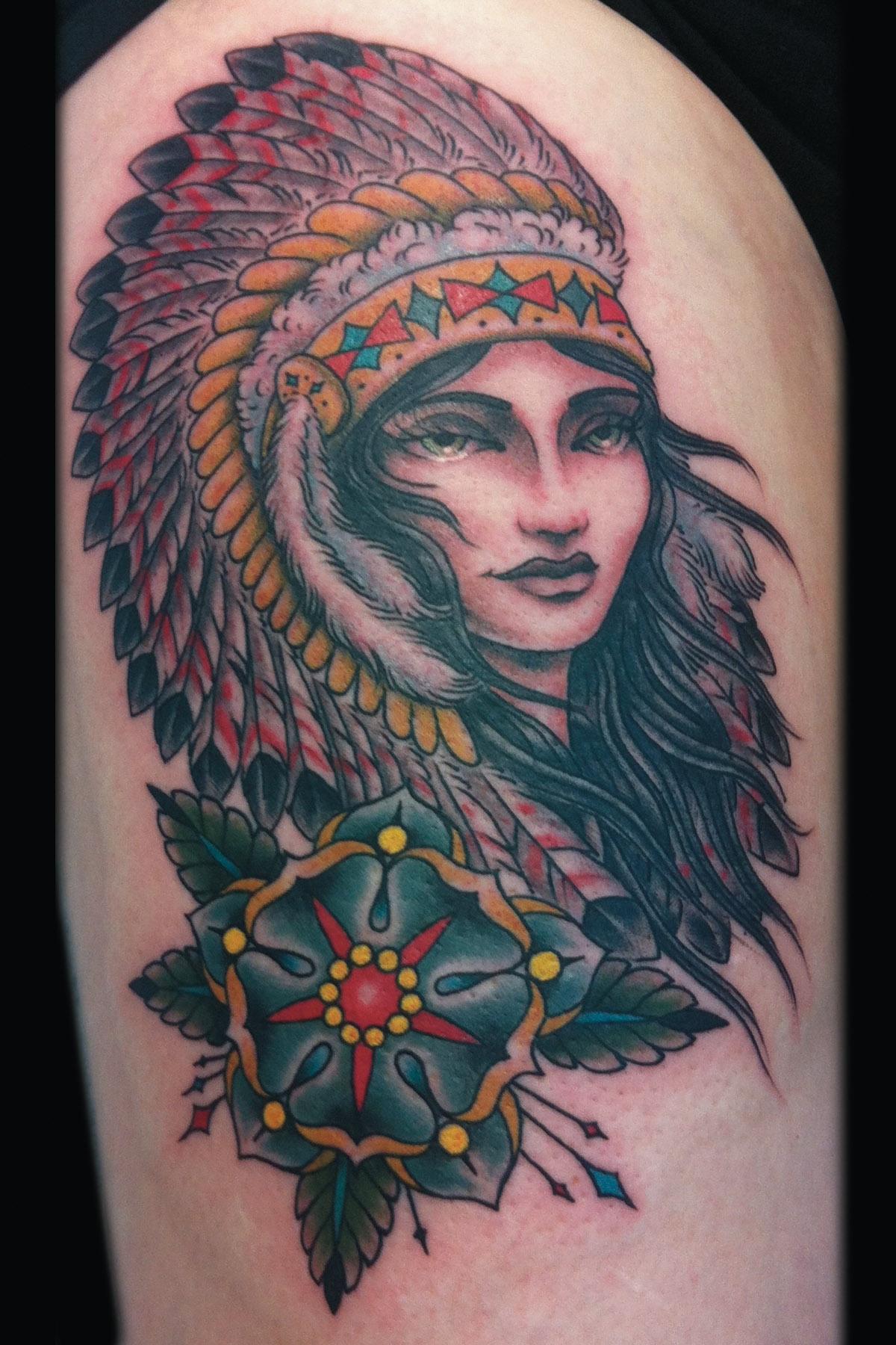 sam-yamini-dedication-tattoo-indian-girl-headdress-flower-thigh