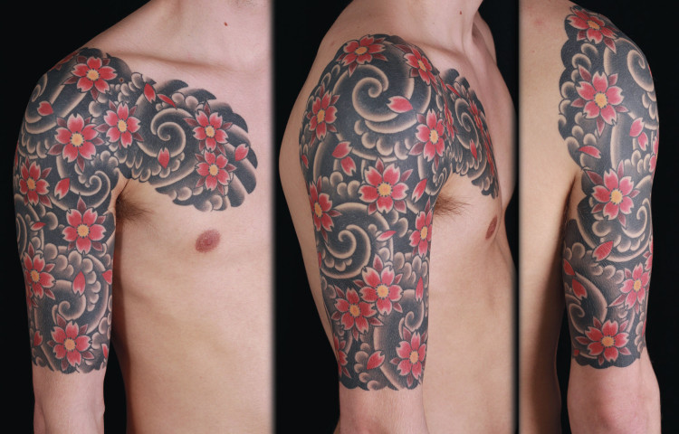 sam-yamini-dedication-tattoo-japanese-cherry-blossoms-clouds-half-sleeve-chest-arm