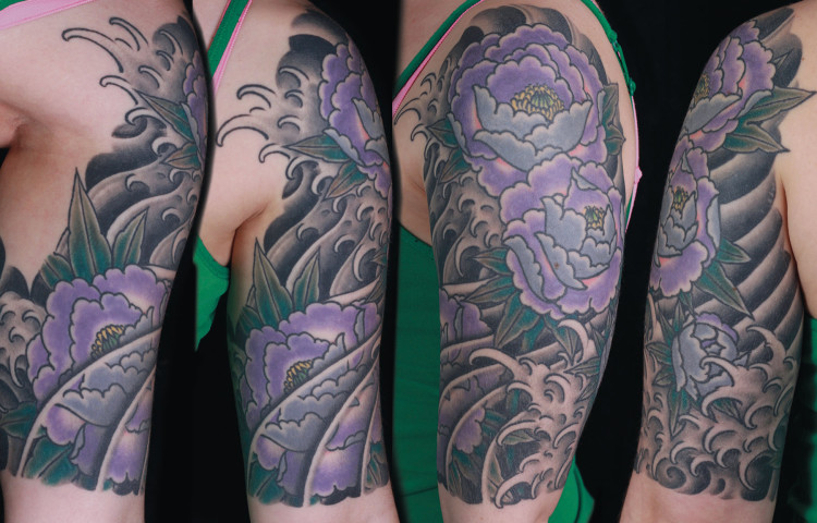 sam-yamini-dedication-tattoo-japanese-half-sleeve-peonies-water-waves-arm