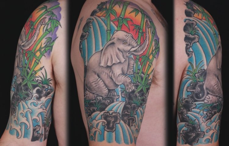 sam-yamini-dedication-tattoo-elephant-scene-bamboo-sleeve-arm