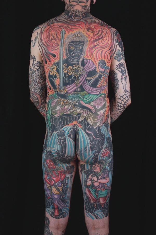 sam-yamini-dedication-tattoo-japanese-fudo-myoo-phoenix-flames-waves-backpiece