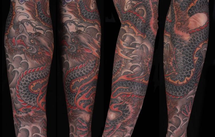 brian-thurow-dedication-tattoo-japanese-dragon-water-forearm-sleeve
