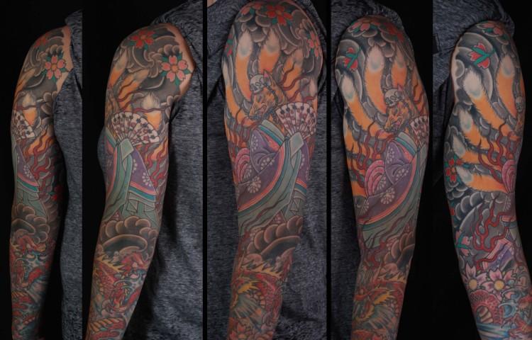 brian-thurow-dedication-tattoo-japanese-kitsune-fox-cherry-blossoms-sleeve-arm