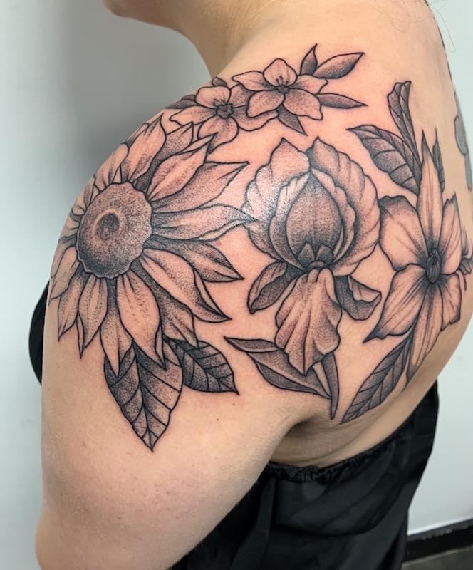 Decorative Floral Tattoo