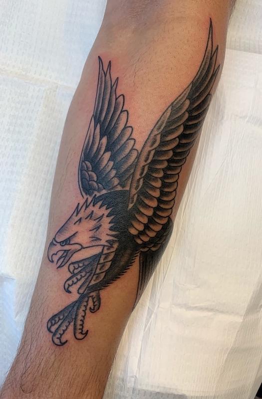 Traditional Eagle Tattoo